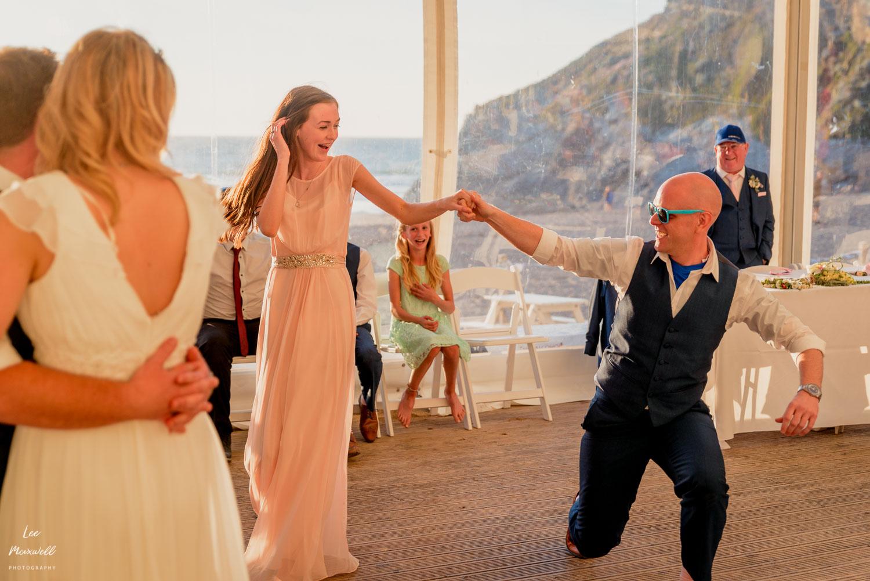 Dancing daughter of bride