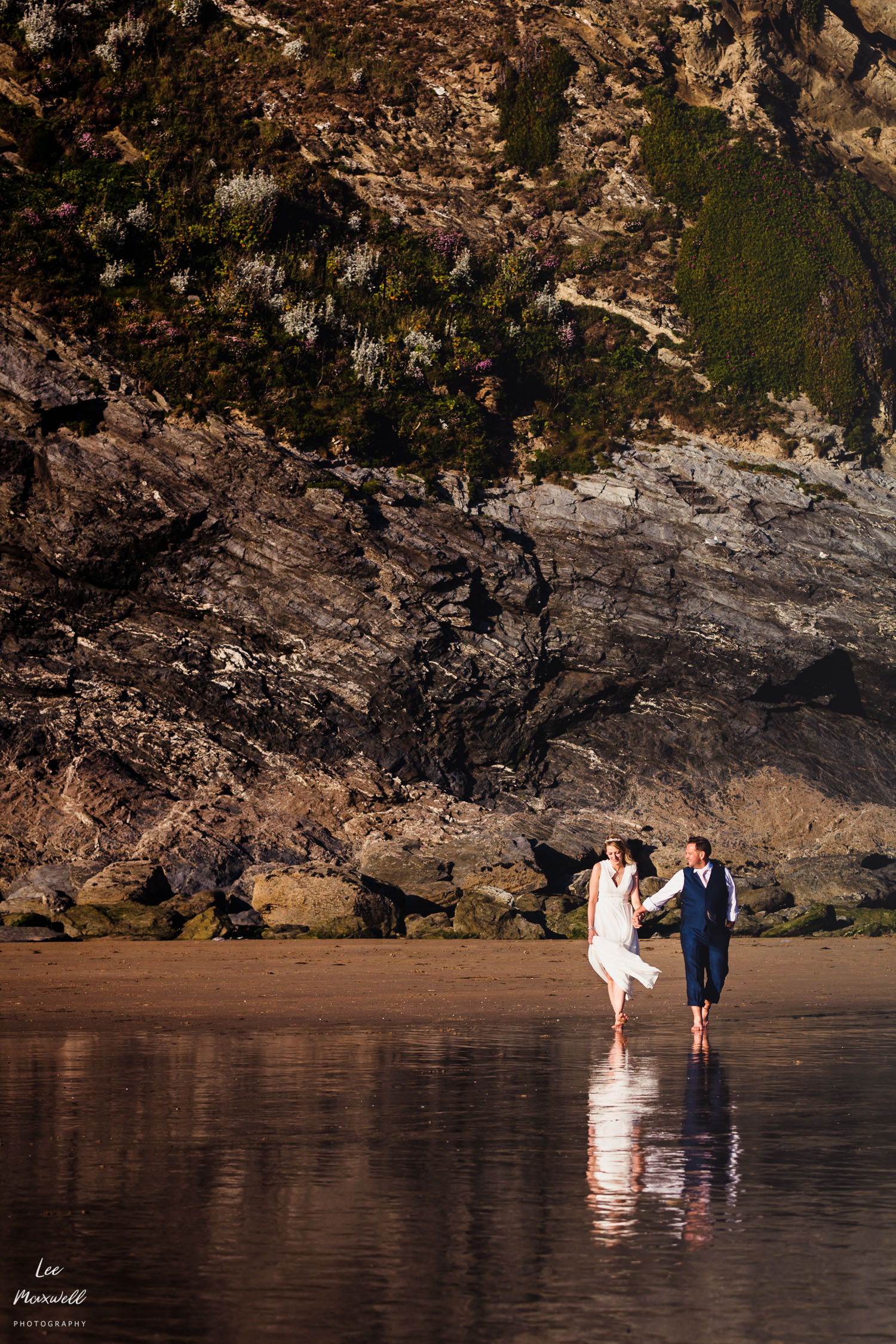 Wedding photography at Lusty Glaze
