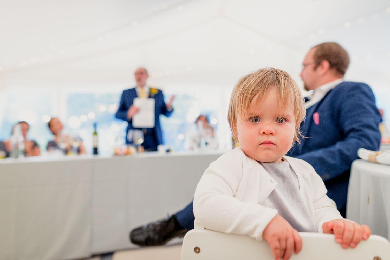 Kid at speeches
