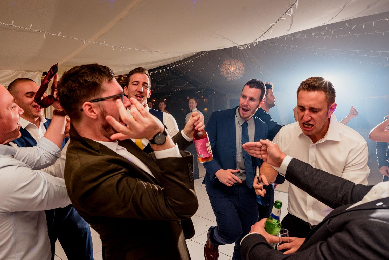 Dancing to DMX at wedding