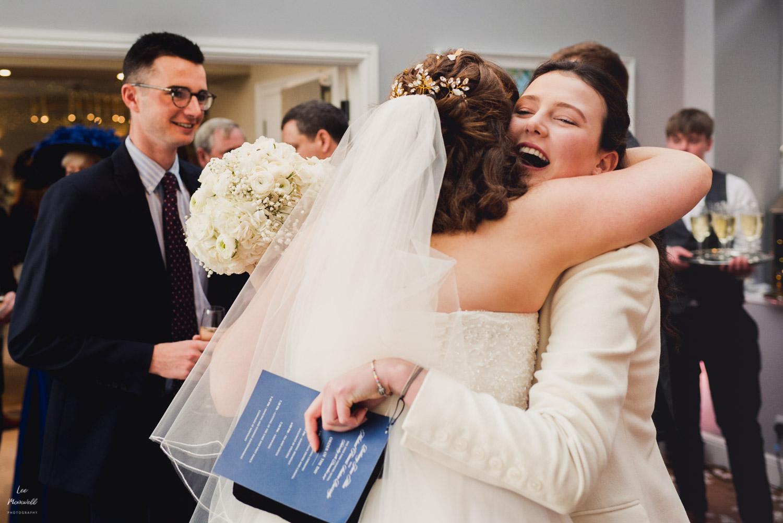 Hugs with bride