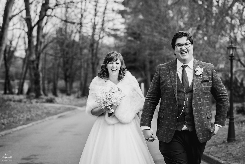 Bride and groom at Deer Park