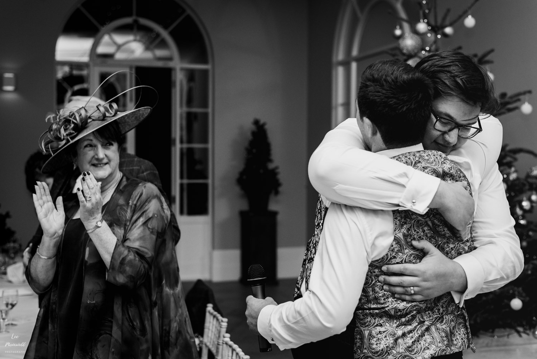Hugs with best man