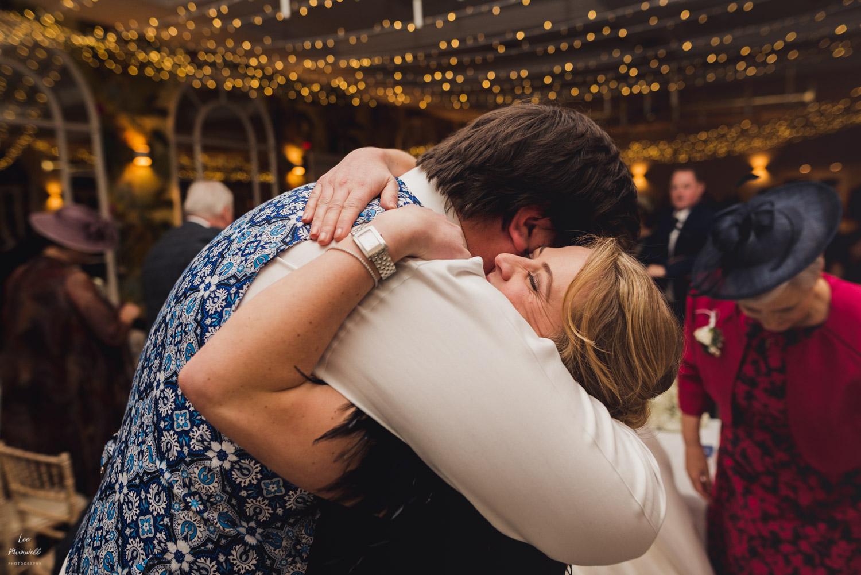 Happy wedding hugs