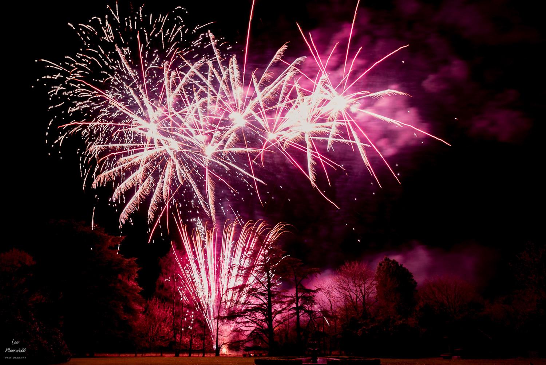 Wedding fireworks at Deer Park