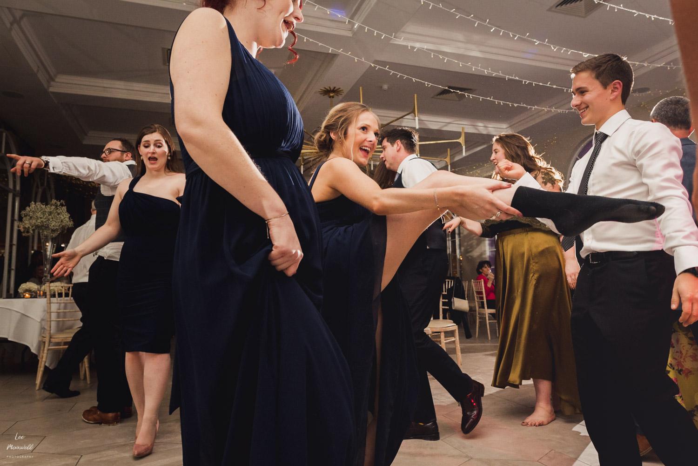 Dancing bridesmaid