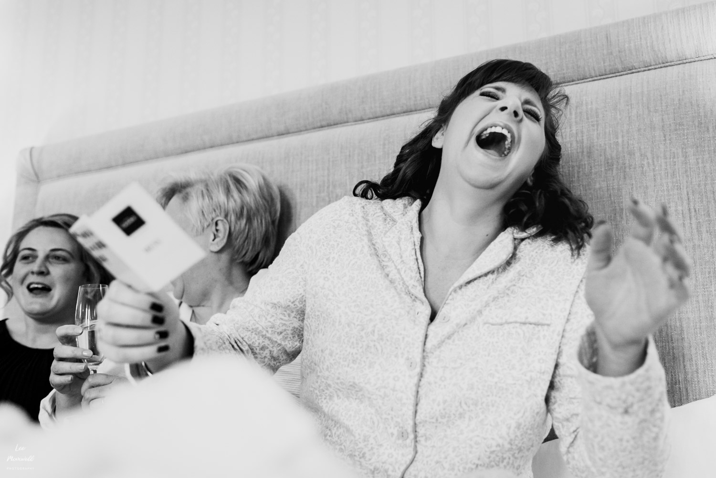 Big laugh with bride