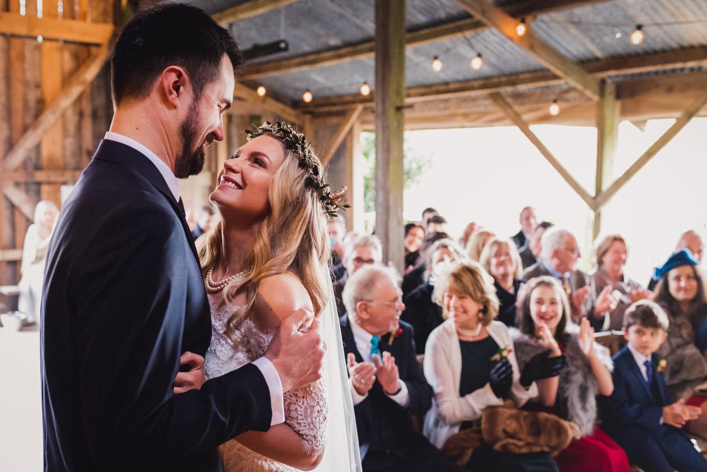 Wedding ceremony at Nancarrow Farm