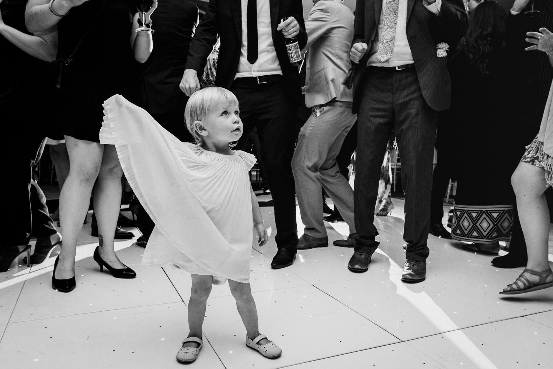 Kid bossing the wedding dance floor