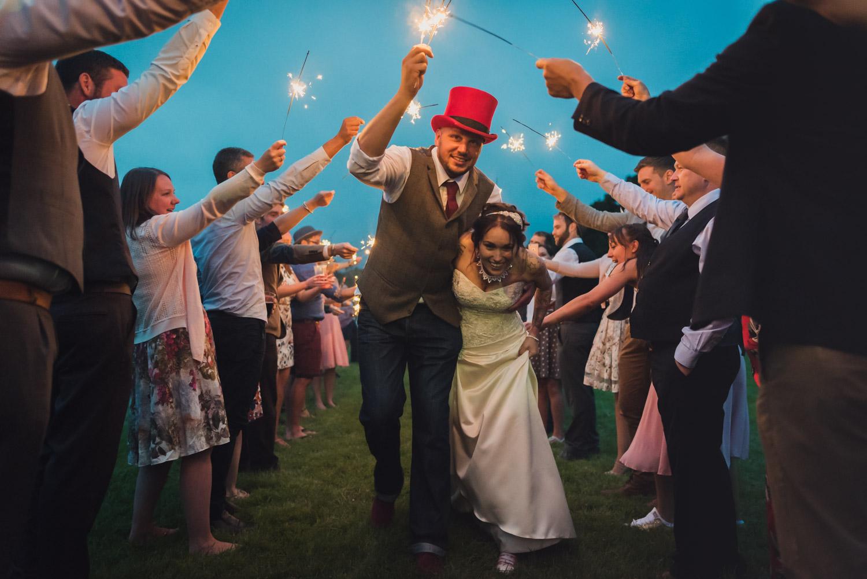 Cool colour wedding sparkler line