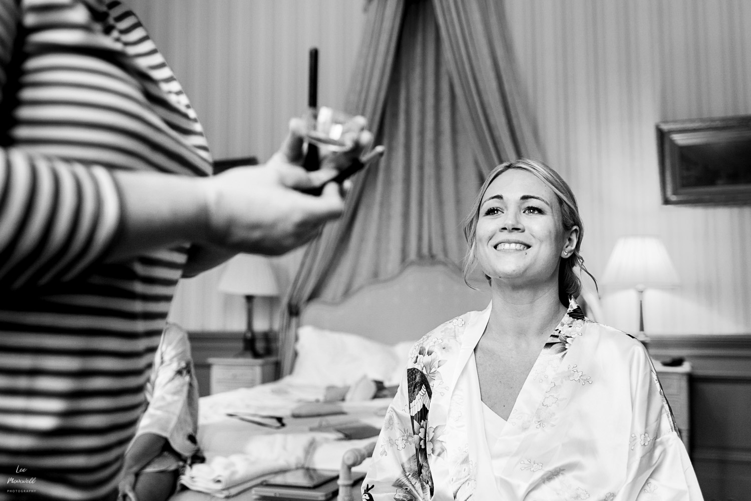 Smiling bride in prep