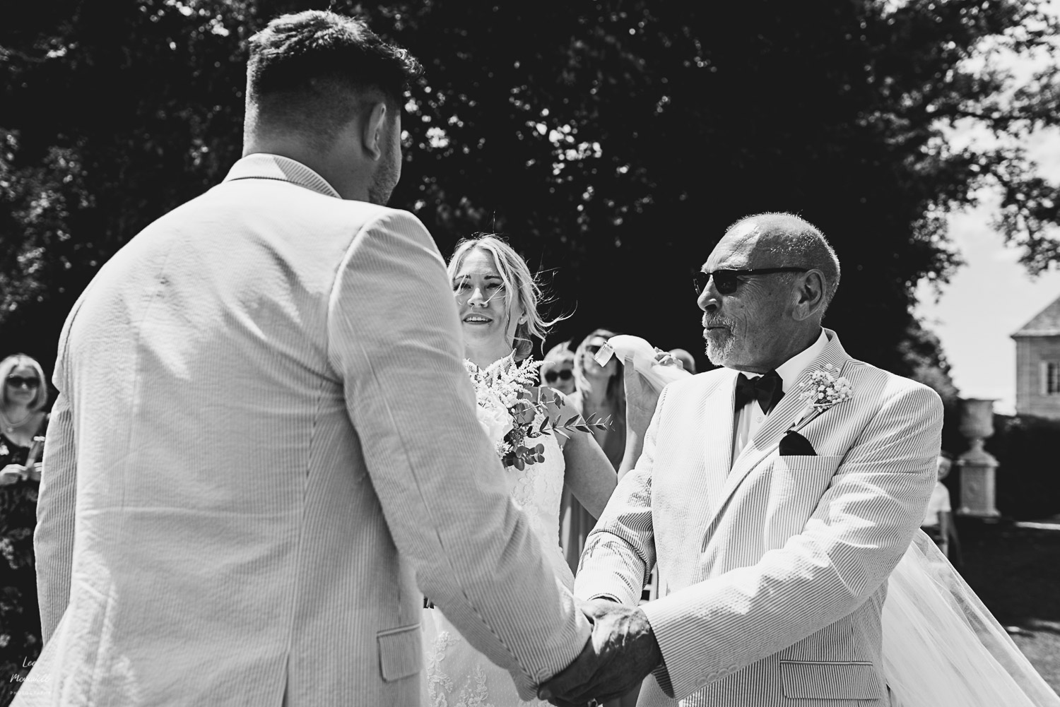 Bride's dad handshake