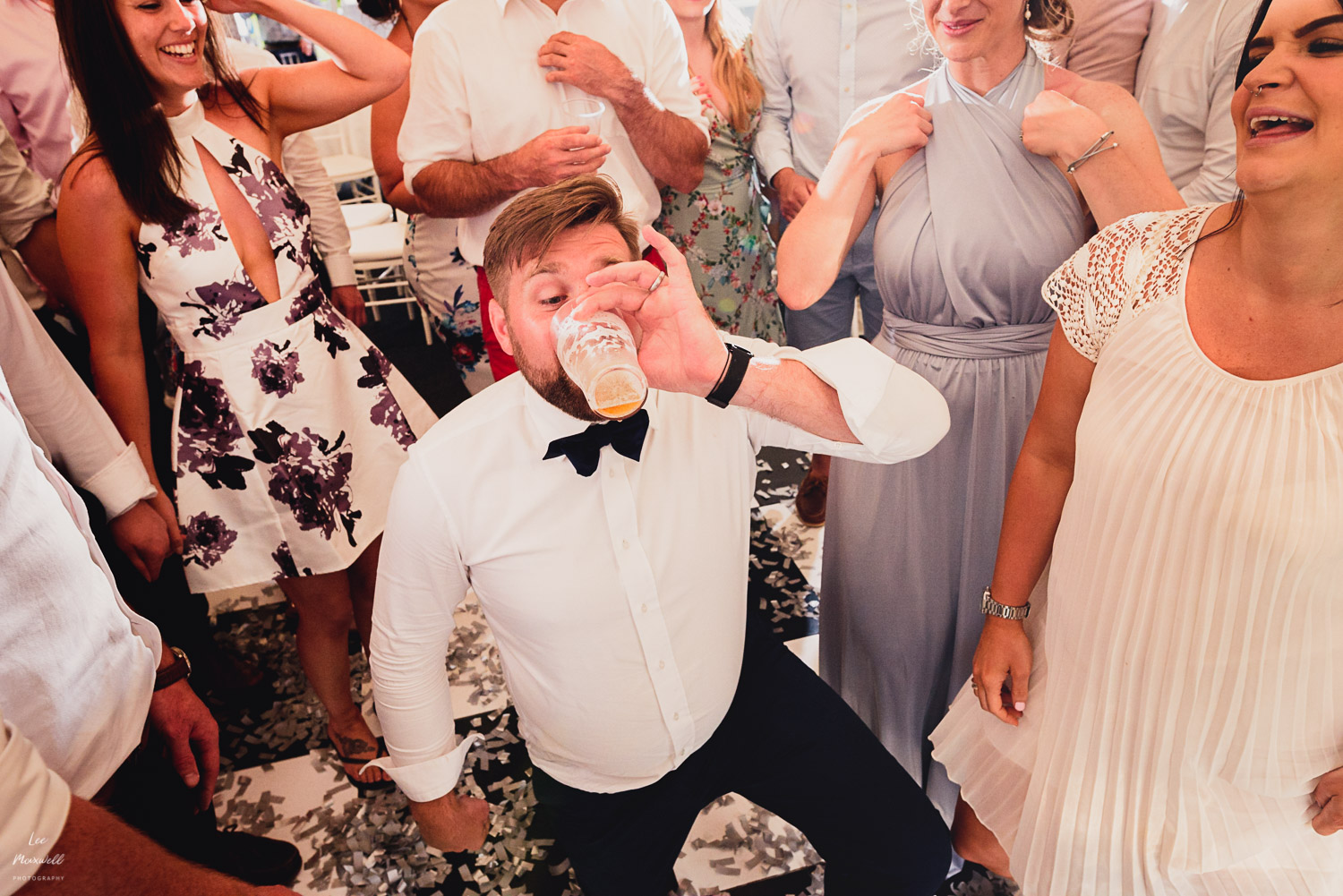 Drinking games at wedding