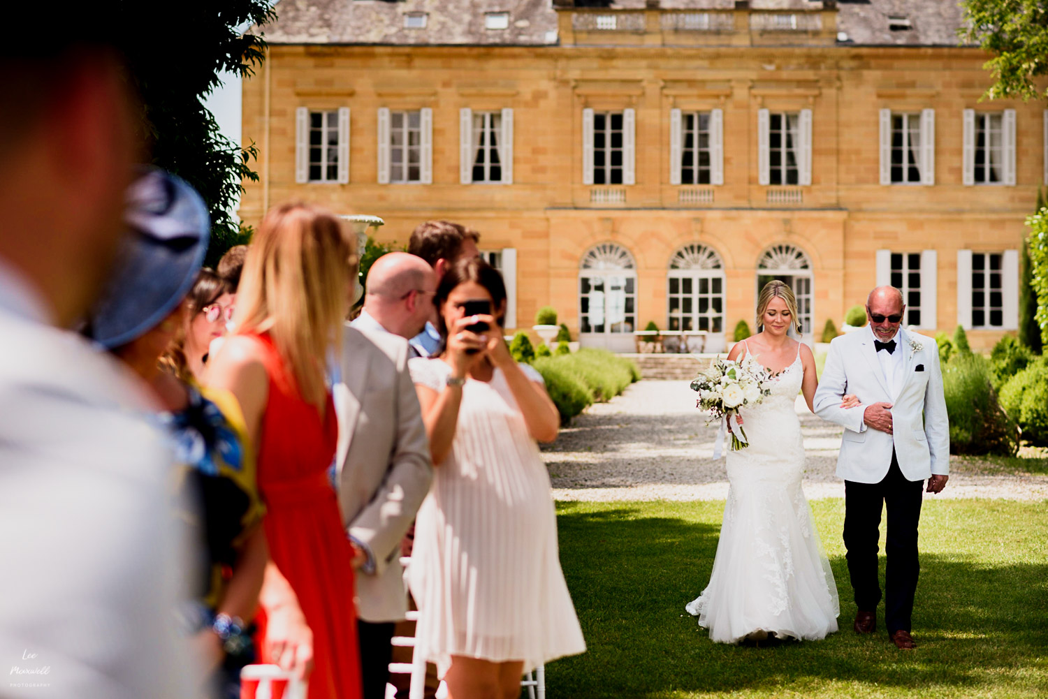 Bride's entrance at Chateau La Durantie