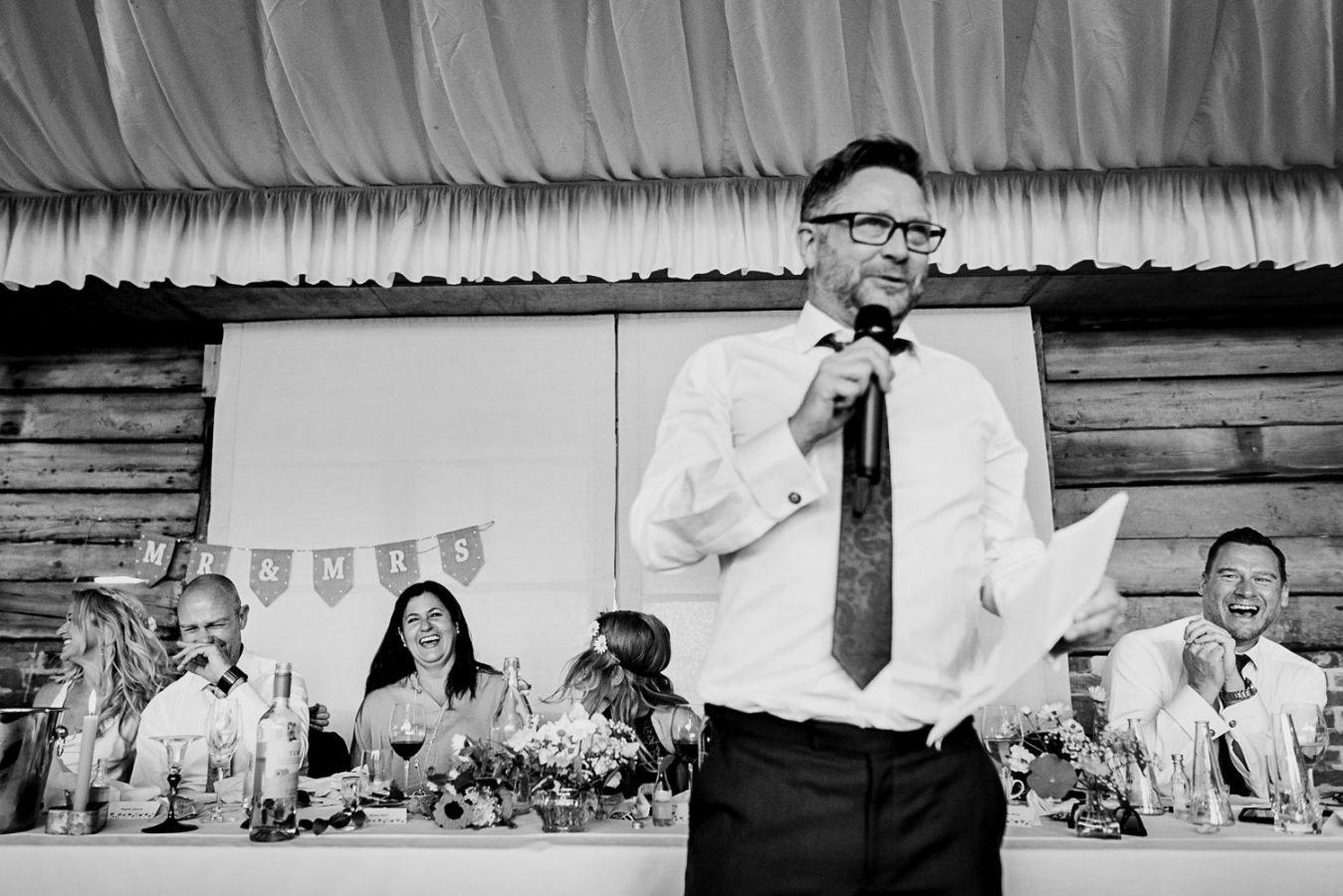 Hilarious wedding speech