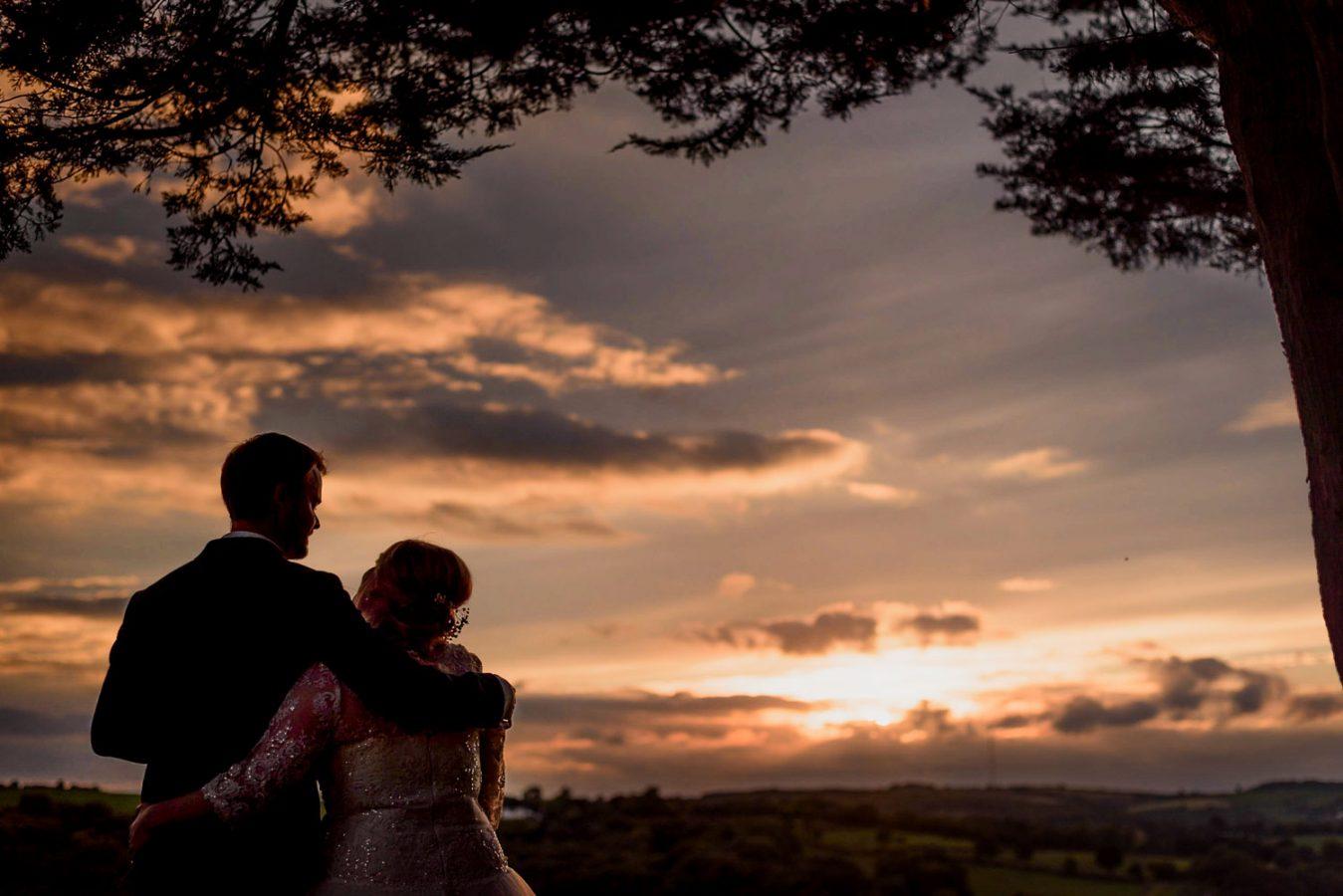 Sunset wedding at Country Ways