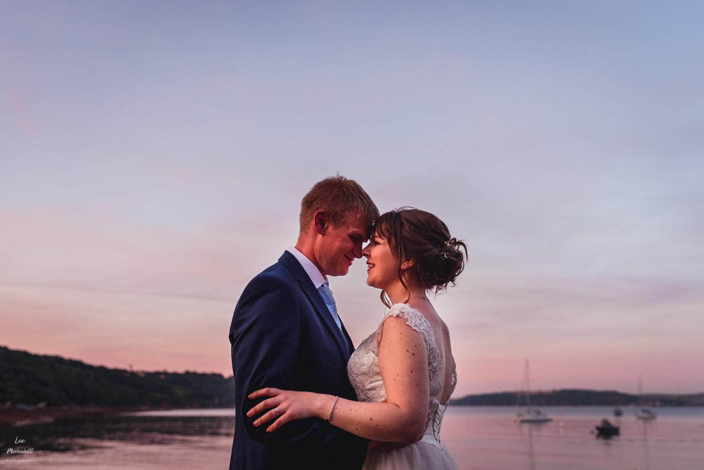 Wedding at Kingsand clock tower Cornwall