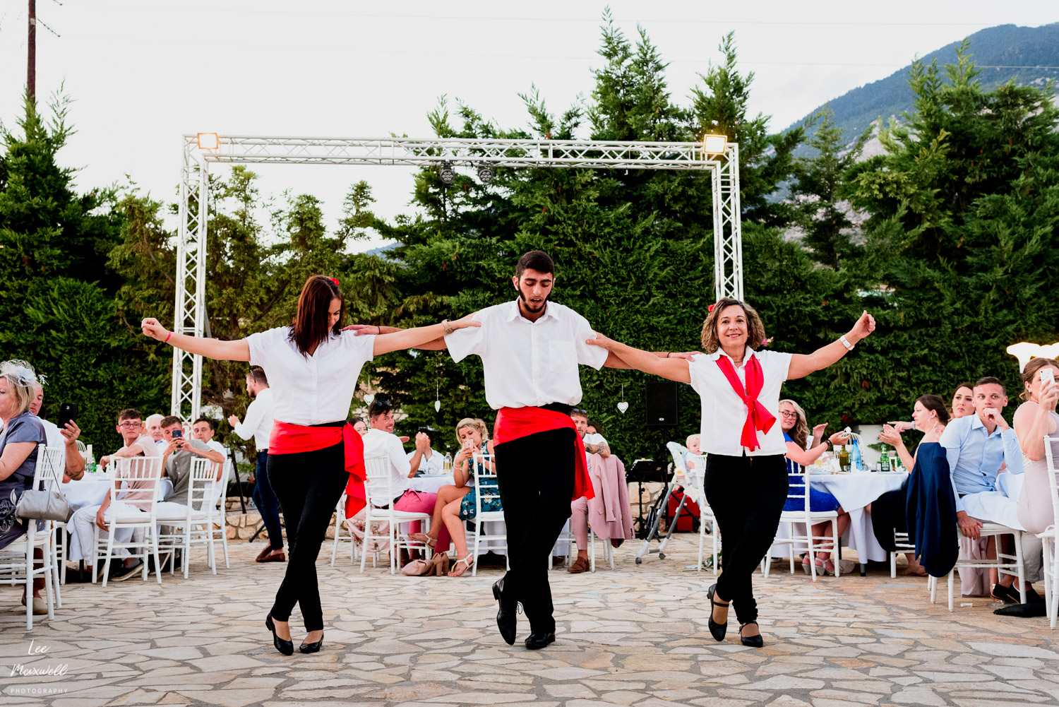 Greek dancing at wedding