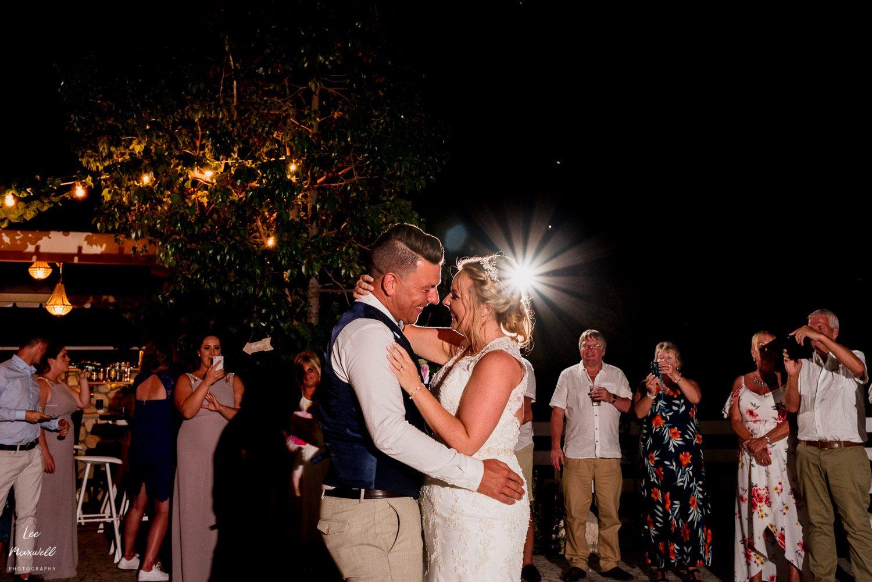 First dance at Kefalonia wedding