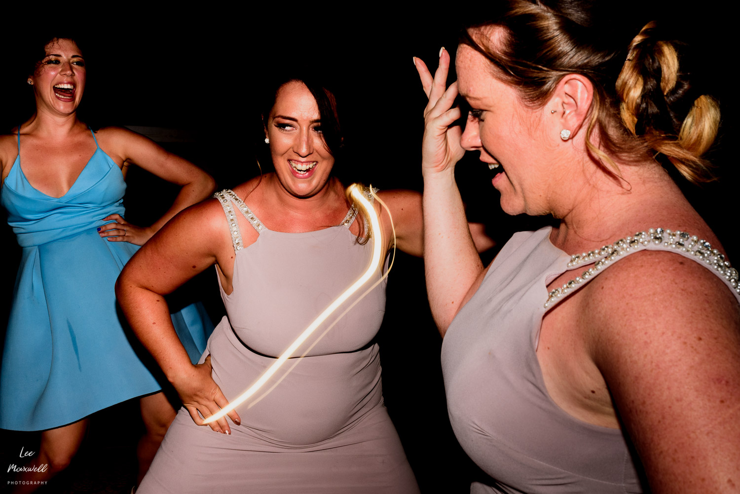 Dancing bridesmaids in Kefalonia