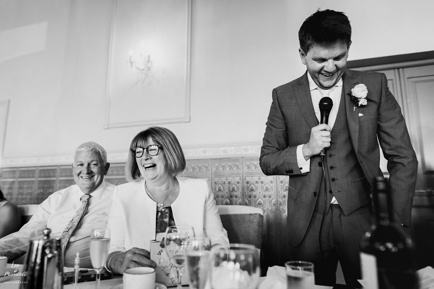 Groom gives funny speech