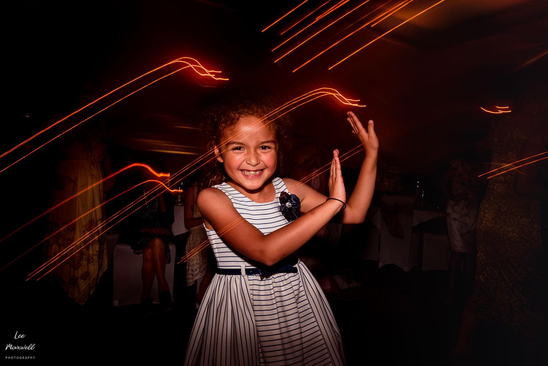 Cool lighting during wedding dance
