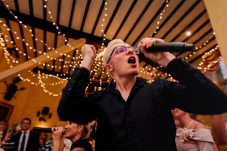 Singing waiter at Sudeley Sastle