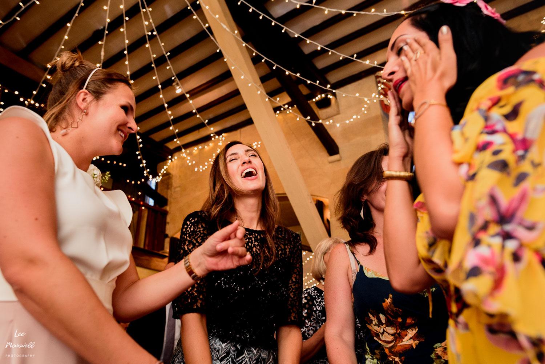 Singing guests at wedding