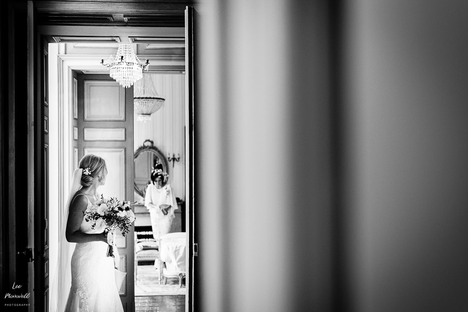 Mum and bride leaving room
