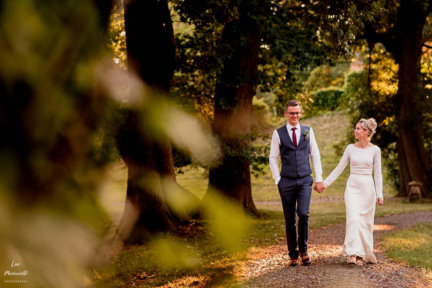 Bride and groom at Tracey estate