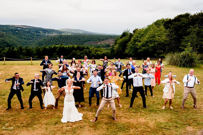 Group dance at wedding