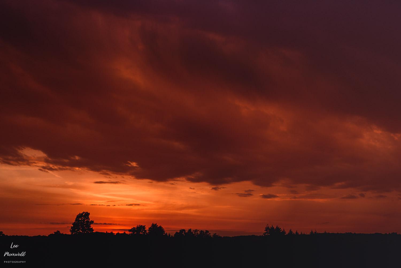 Stormy sunset nigh