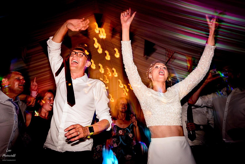 Late night dancing at wedding