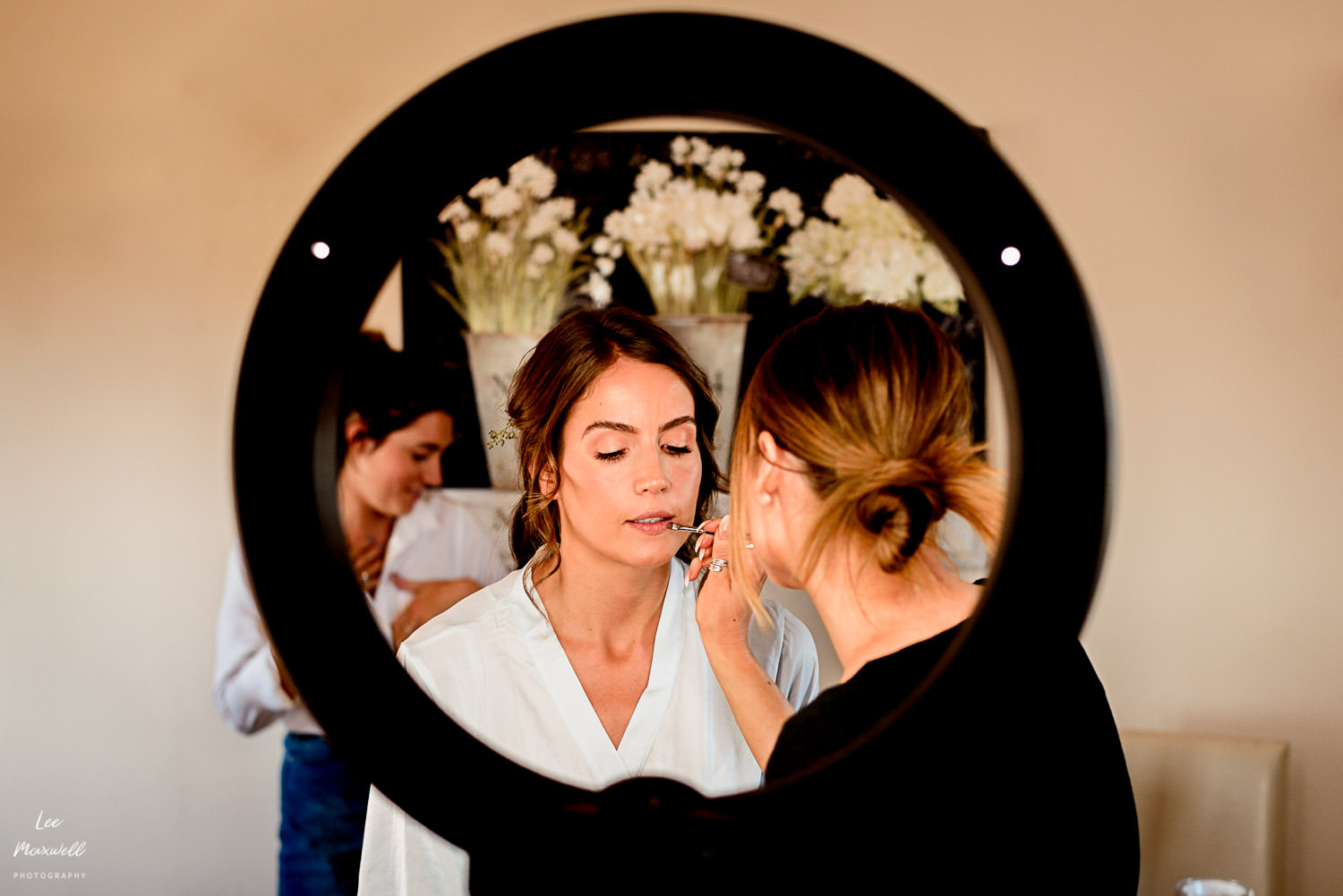 Bridal prep with lipstick