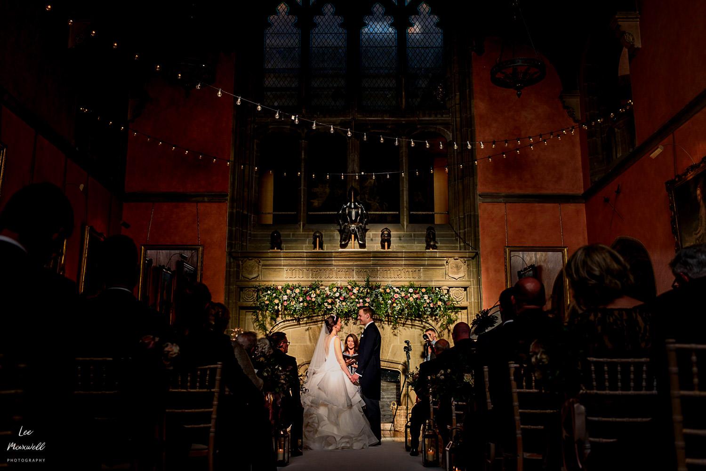 Amazing light during wedding ceremony