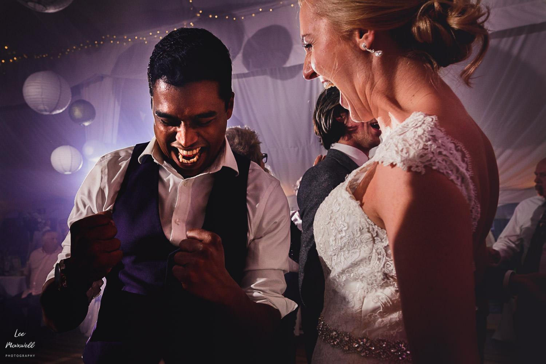 Intense daning at wedding