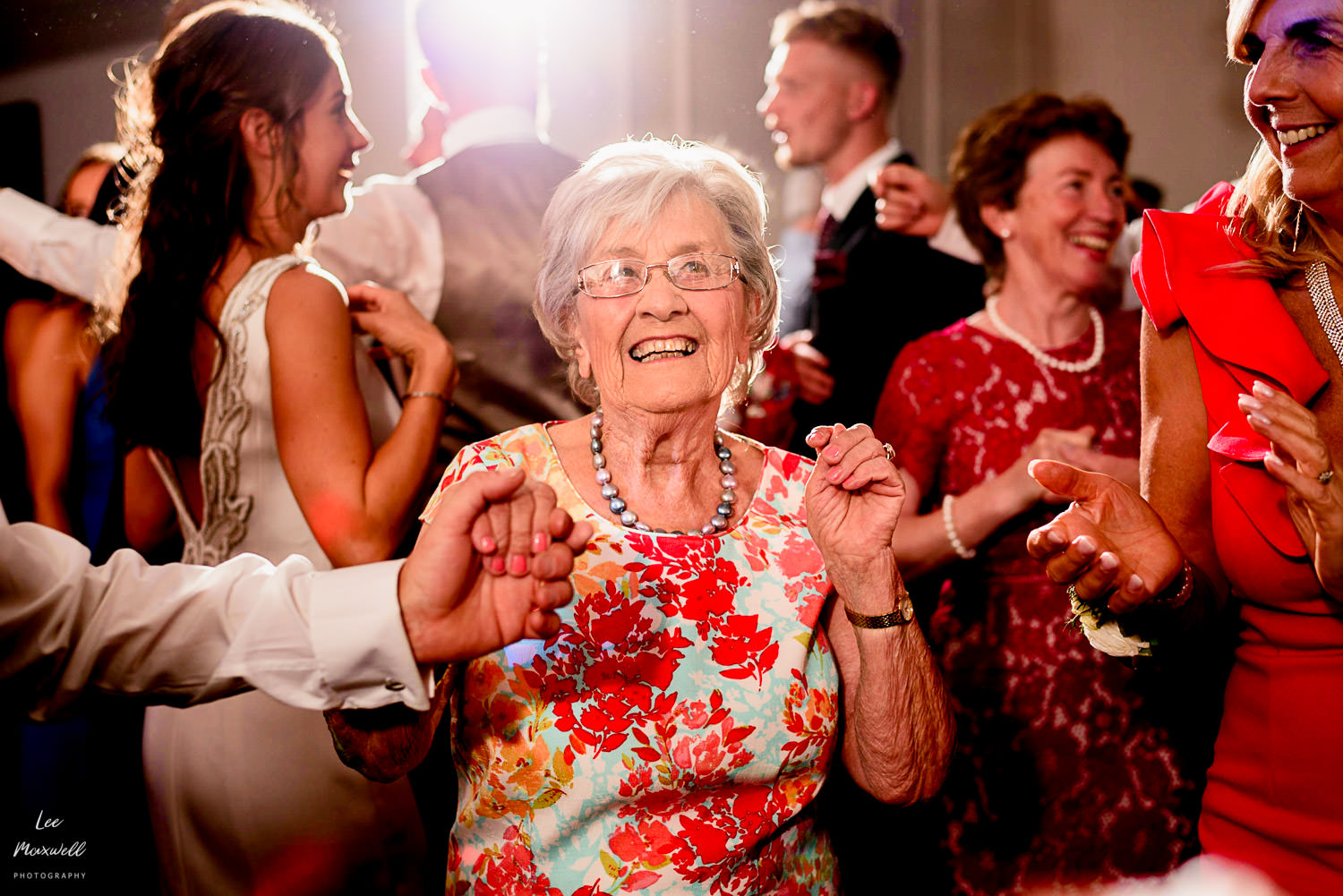 Happy gran at wedding