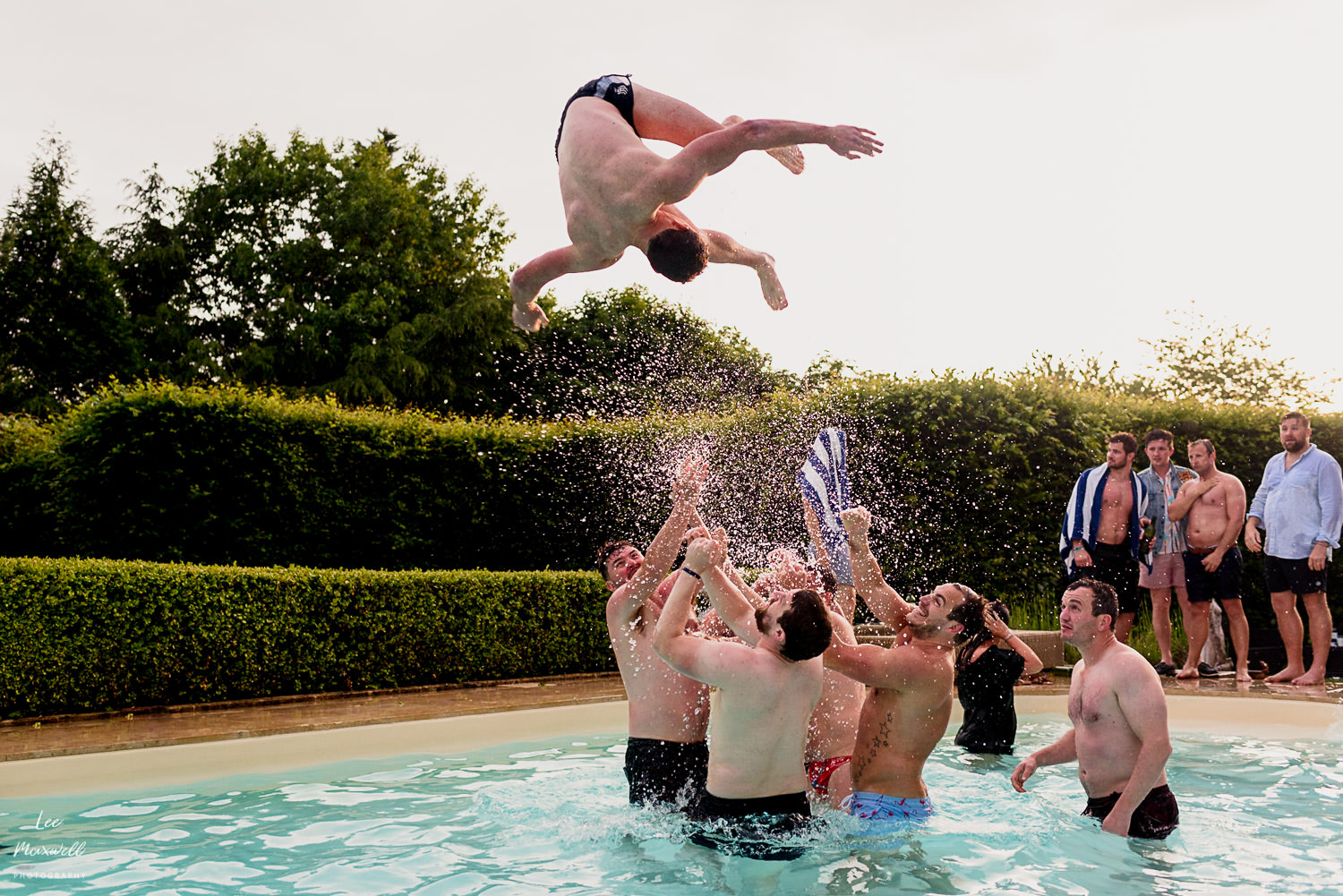 Somersaults in the pool