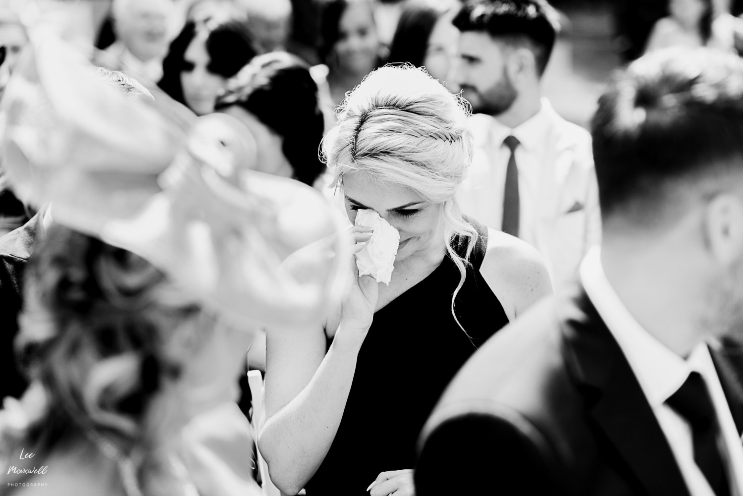 Teary bridesmaid