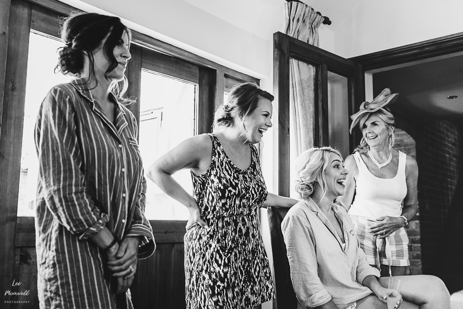 Wedding prep with bridal party