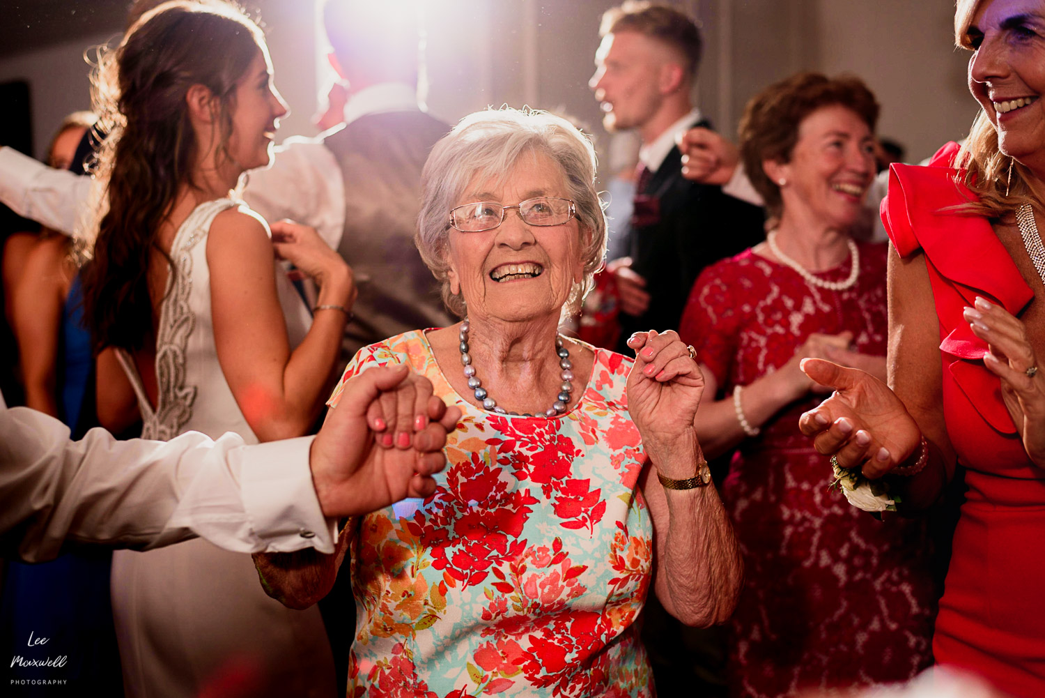 Dancing gran at wedding