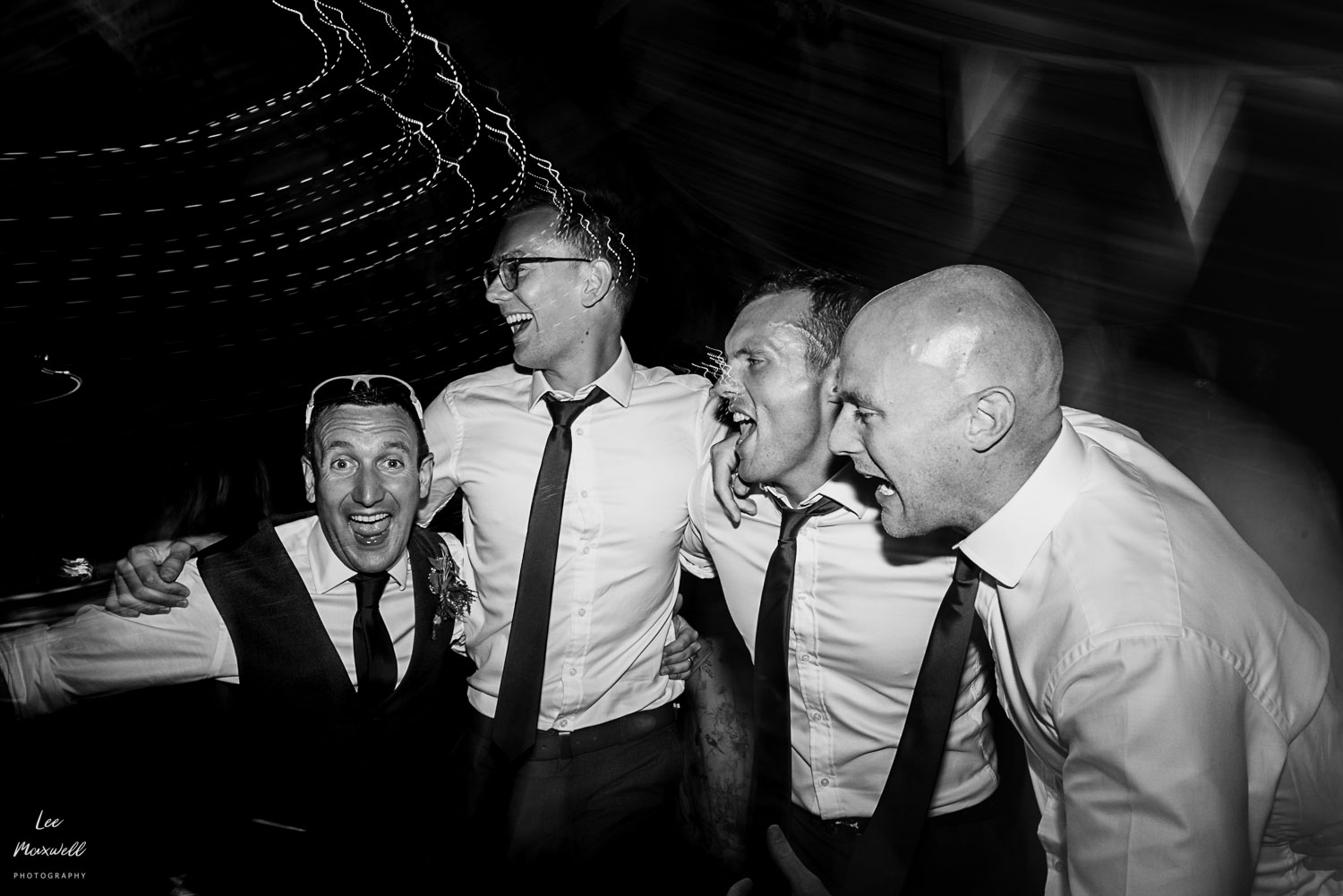 Singing groomsmen