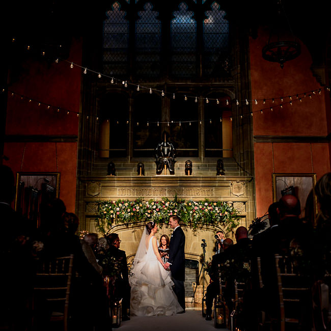 Wedding ceremony in amazing light