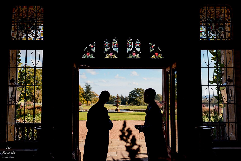 Groomsmen silhouette at Cowdray Estate