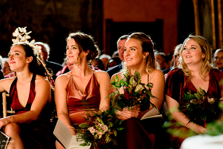 Smiling bridesmaids at Cowdray Estate