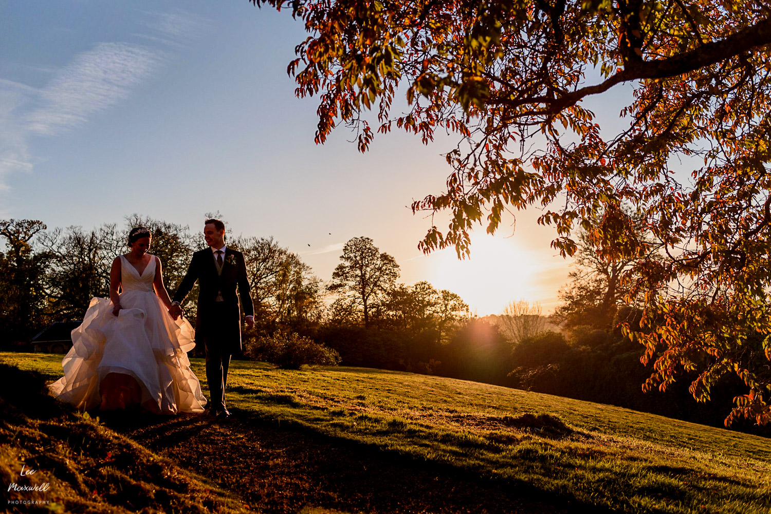 Sunset wedding at Cowdray Estate