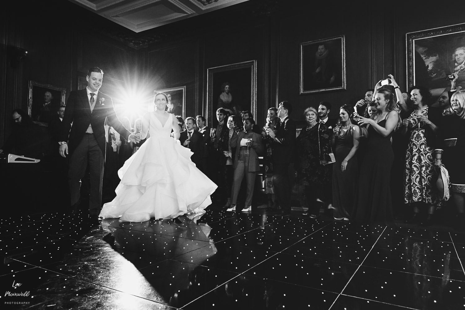 Walking onto the dance floor at Cowdray Estate