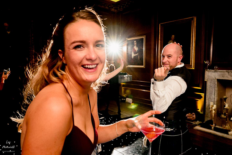 Surprised bridesmaid at Cowdray Estate