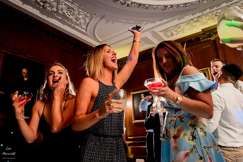 Singing wedding guests at Cowdray Estate