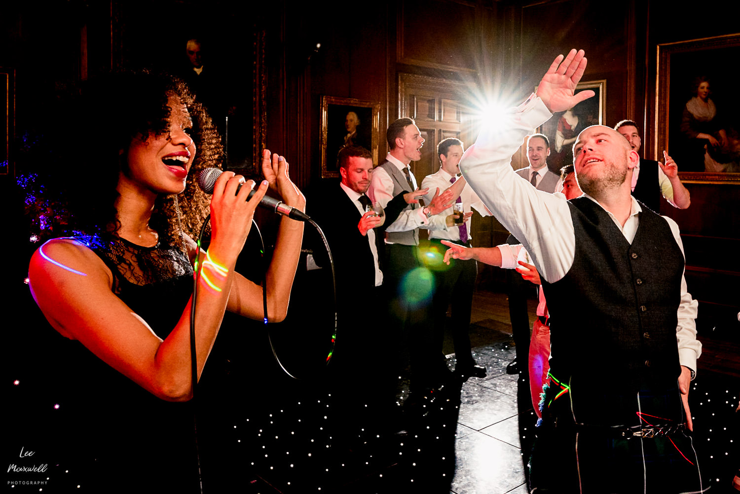 Joining the wedding band at Cowdray Estate